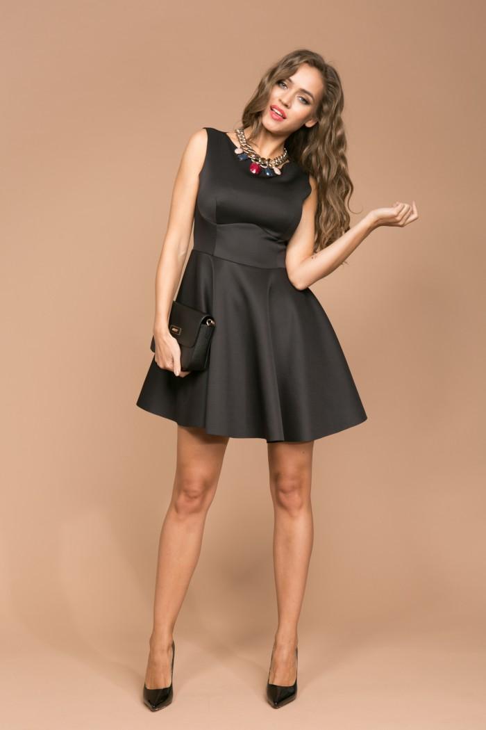 057 платье черное
