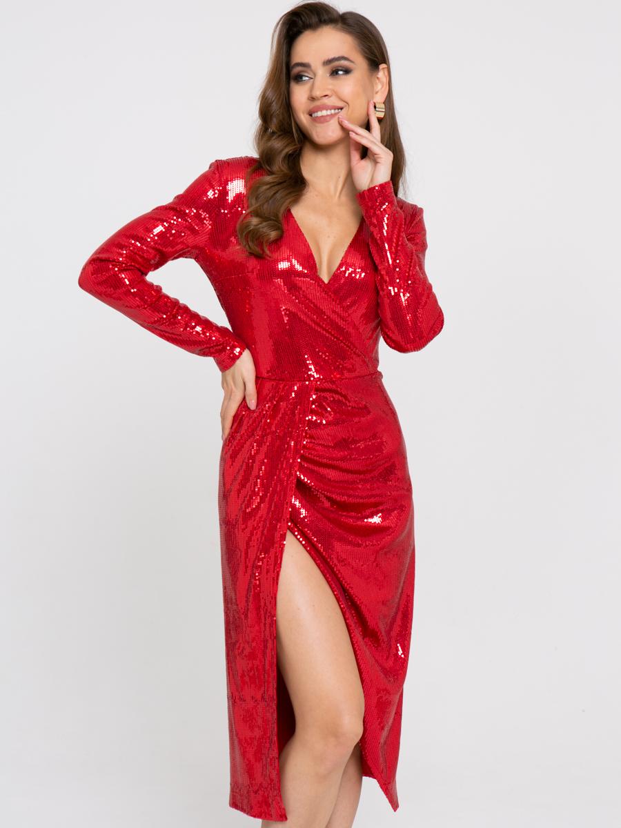Платье Z358 цвет: красный