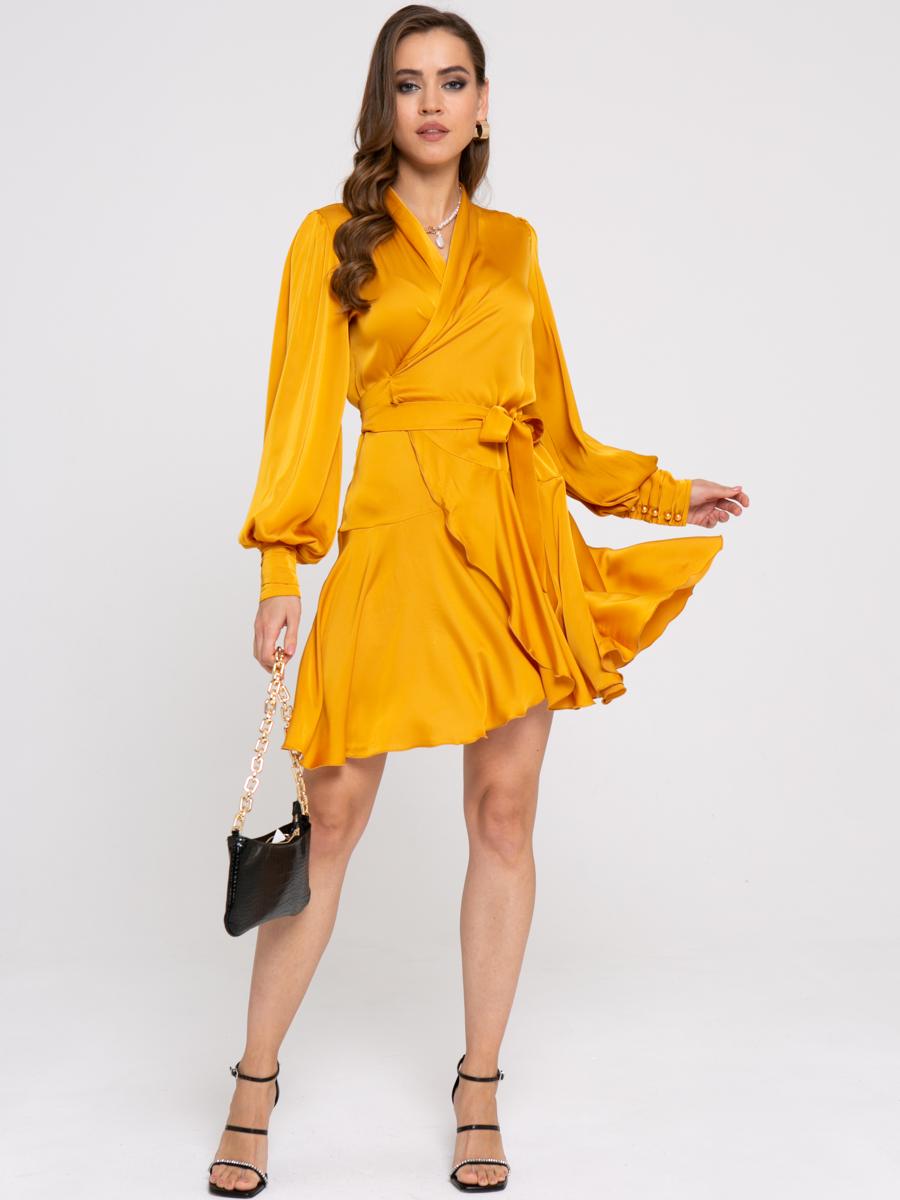 Платье Z422 цвет: горчичный