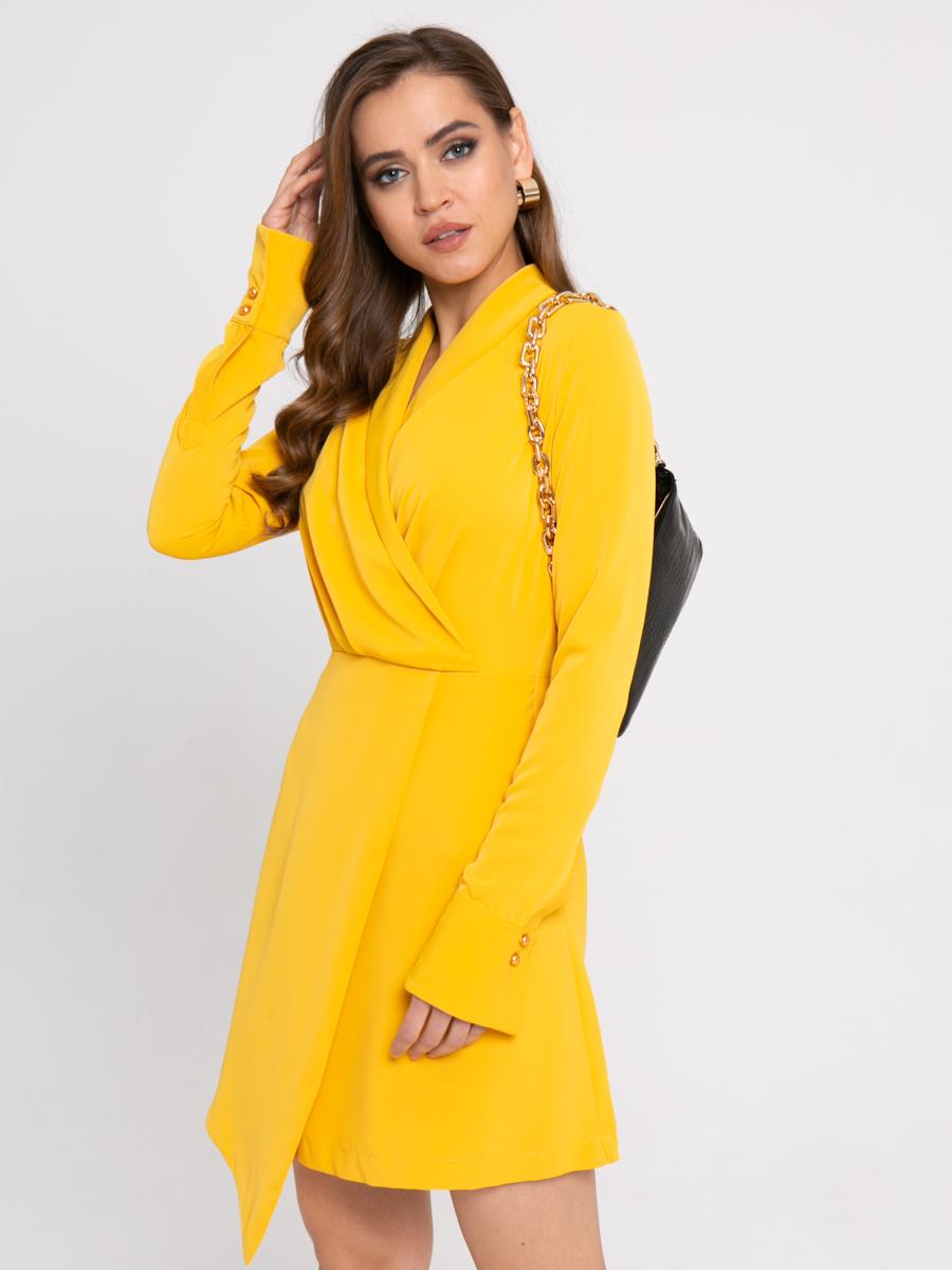 Платье Z423 цвет: горчичный