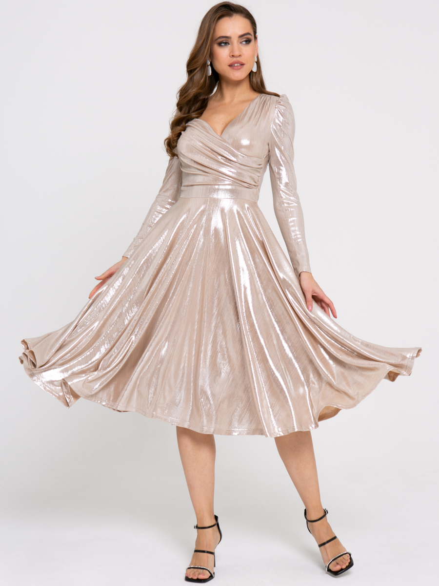 Платье Z424 цвет: бежевый