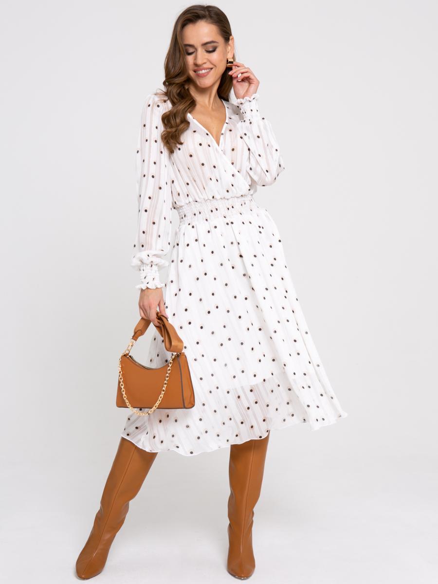 Платье Z431 цвет: молочный