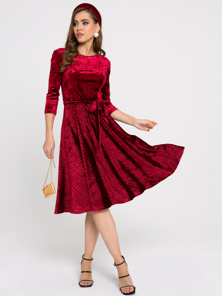 Платье Z433 цвет: бордовый