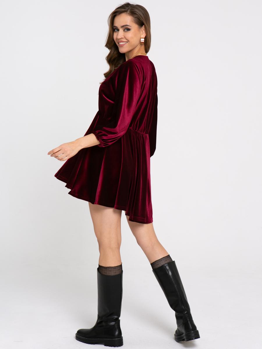 Платье Z428 цвет: винный