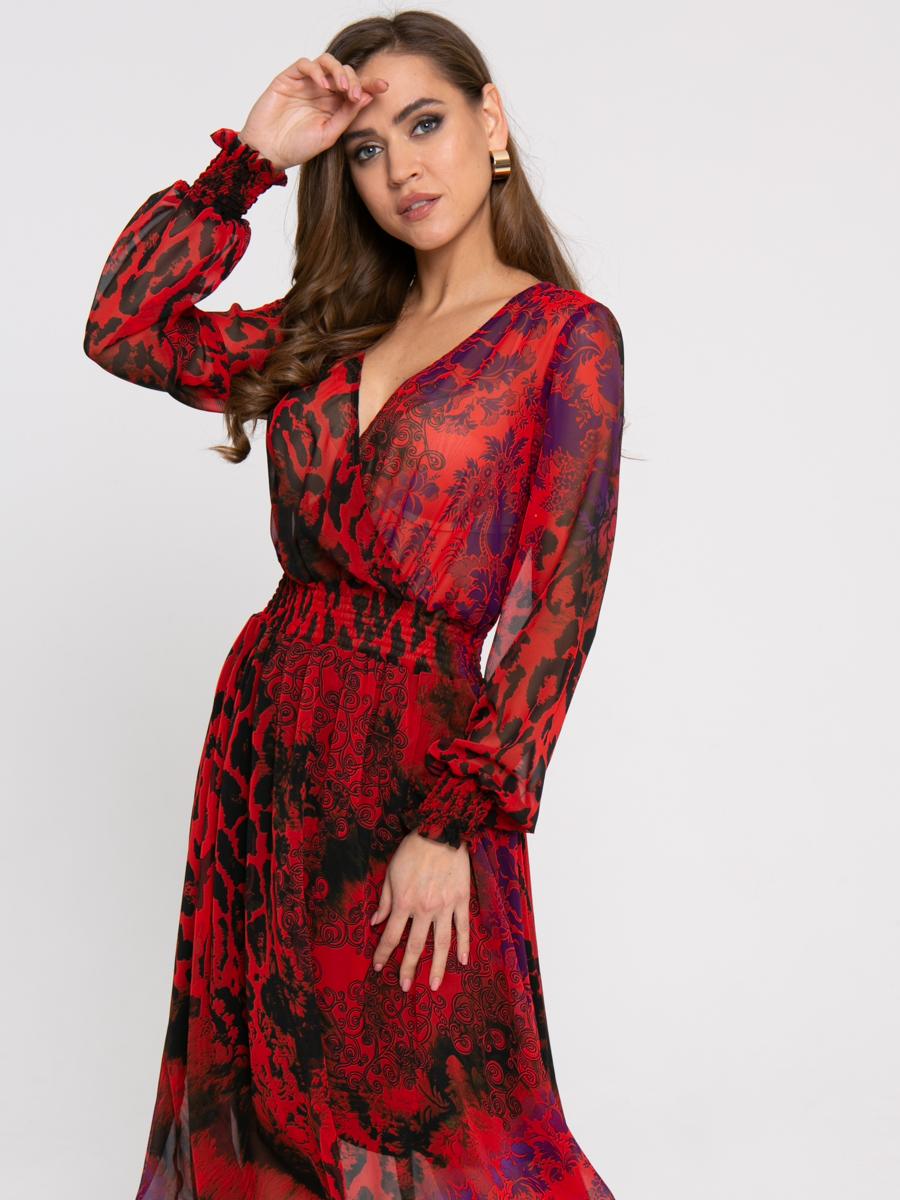 Платье Z431 цвет: красный