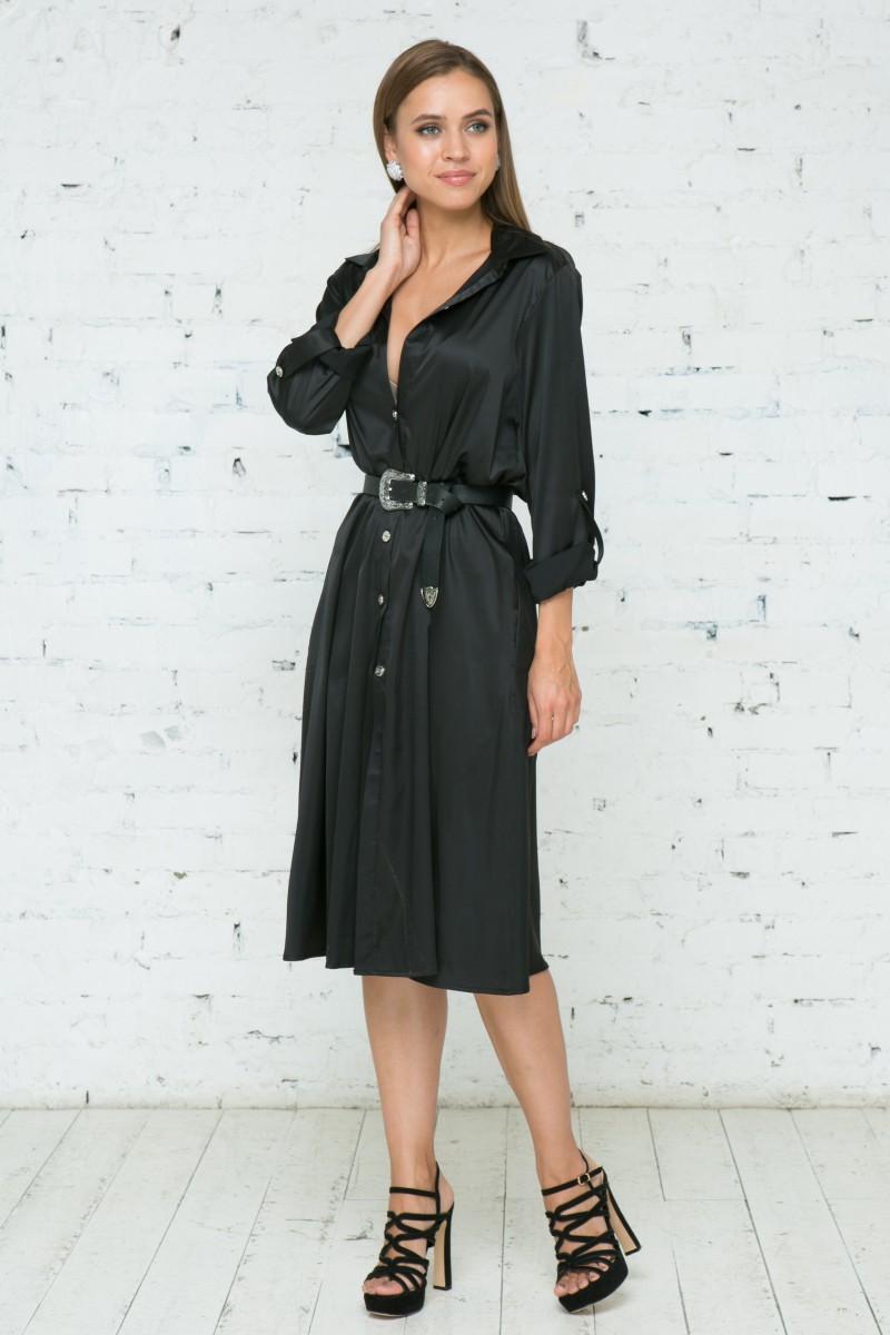 Платье V141 цвет черный