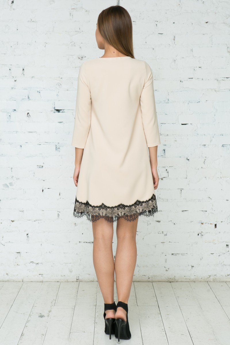 Платье V136 цвет бежевый