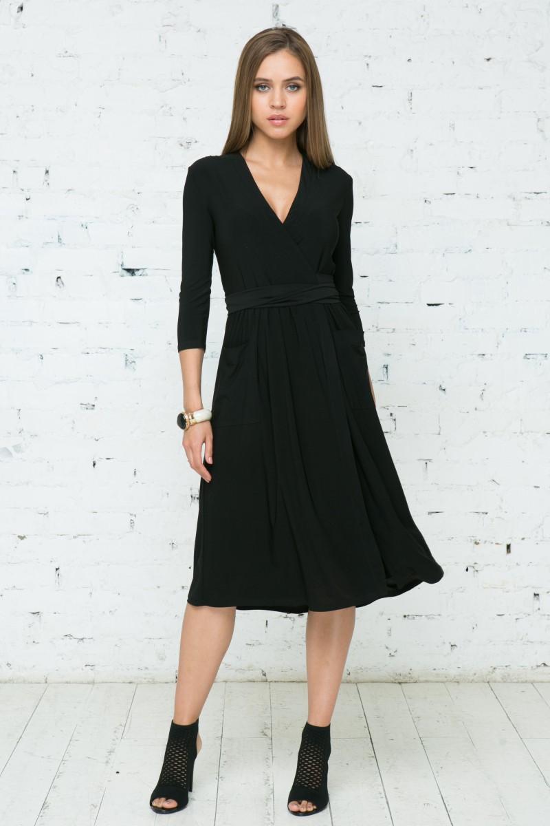 Платье V138 цвет черный