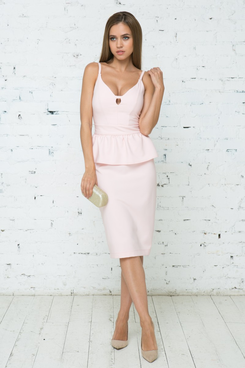 Платье V132 цвет розовый