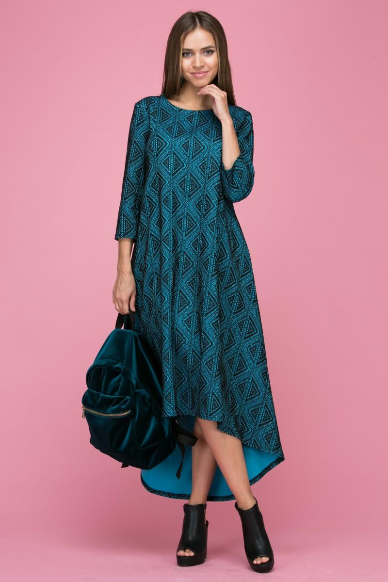 112 Платье цвет бирюзовый