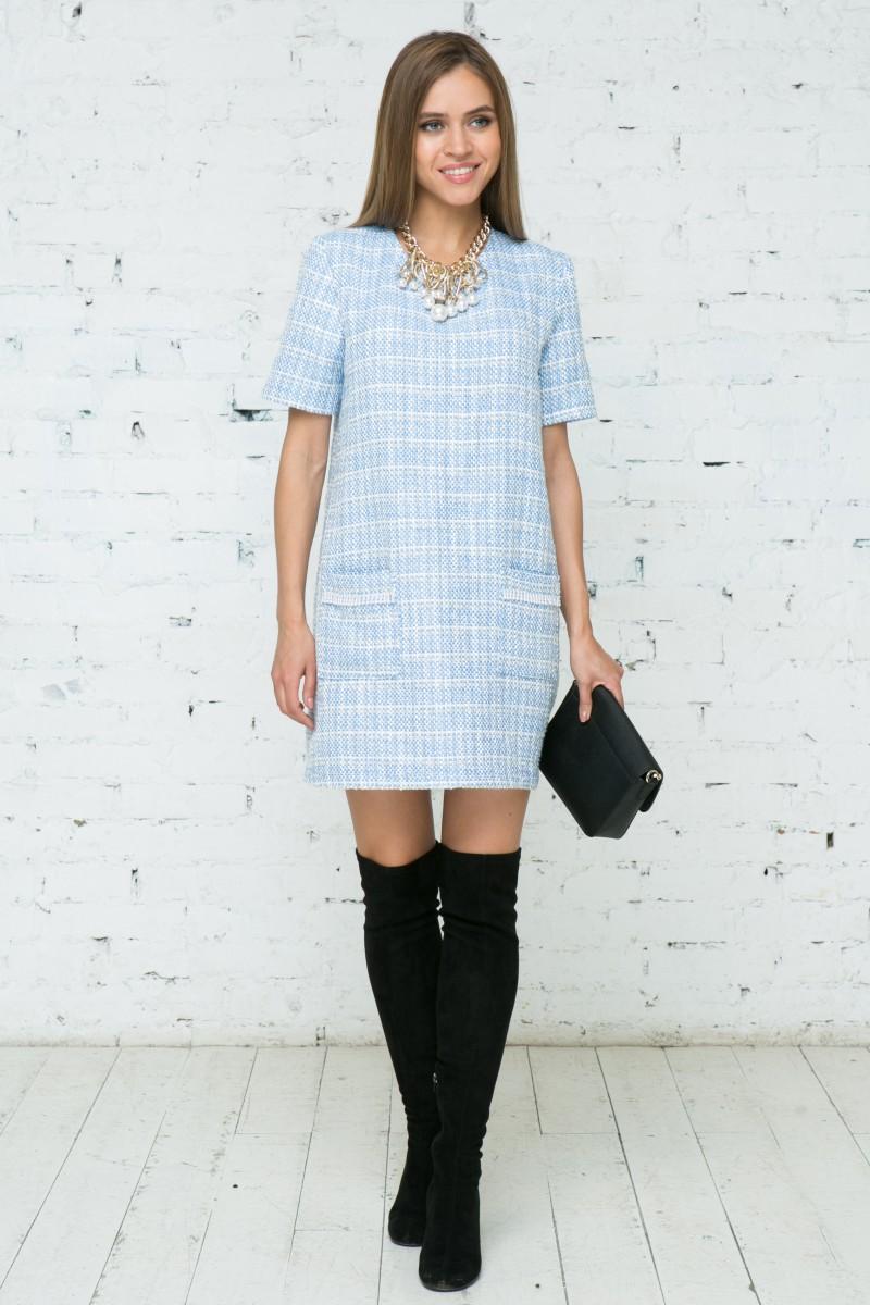 Платье V134  цвет голубой
