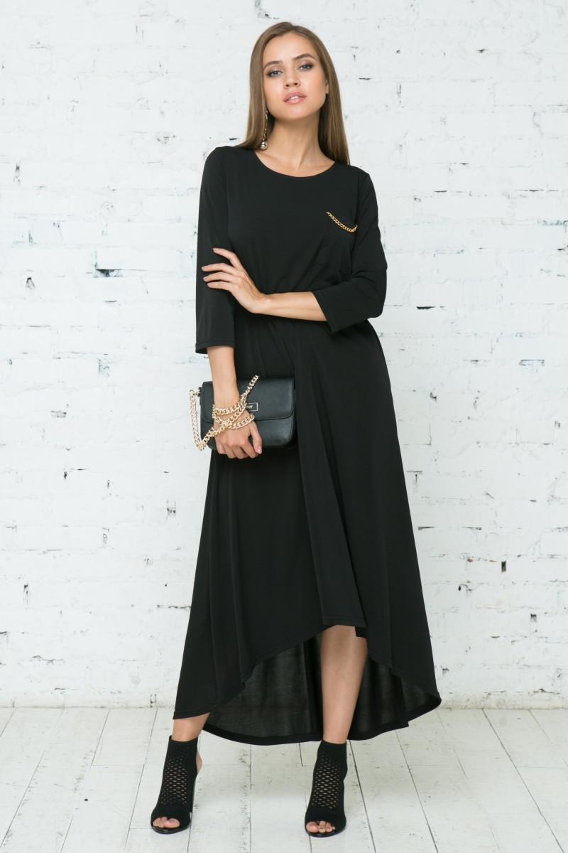 Платье V133 цвет черный