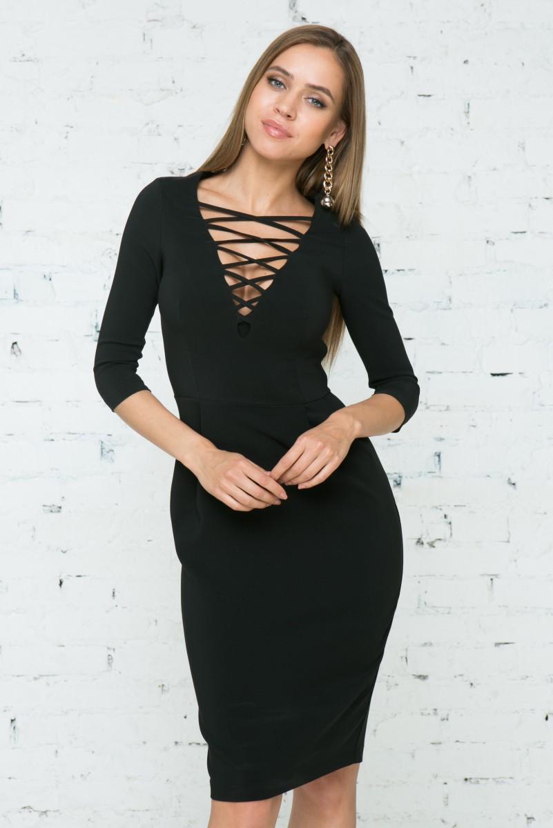 Платье V137 цвет черный