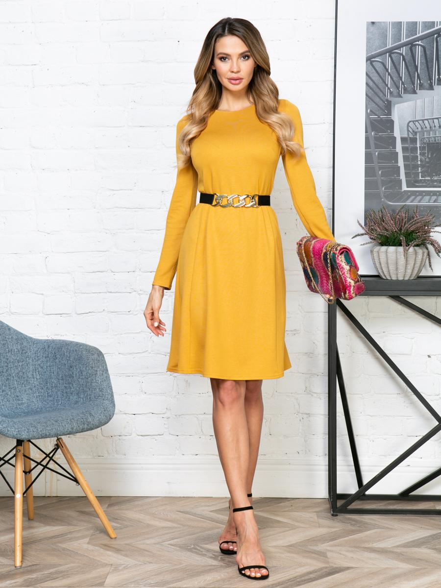 Платье V281 цвет: горчичный
