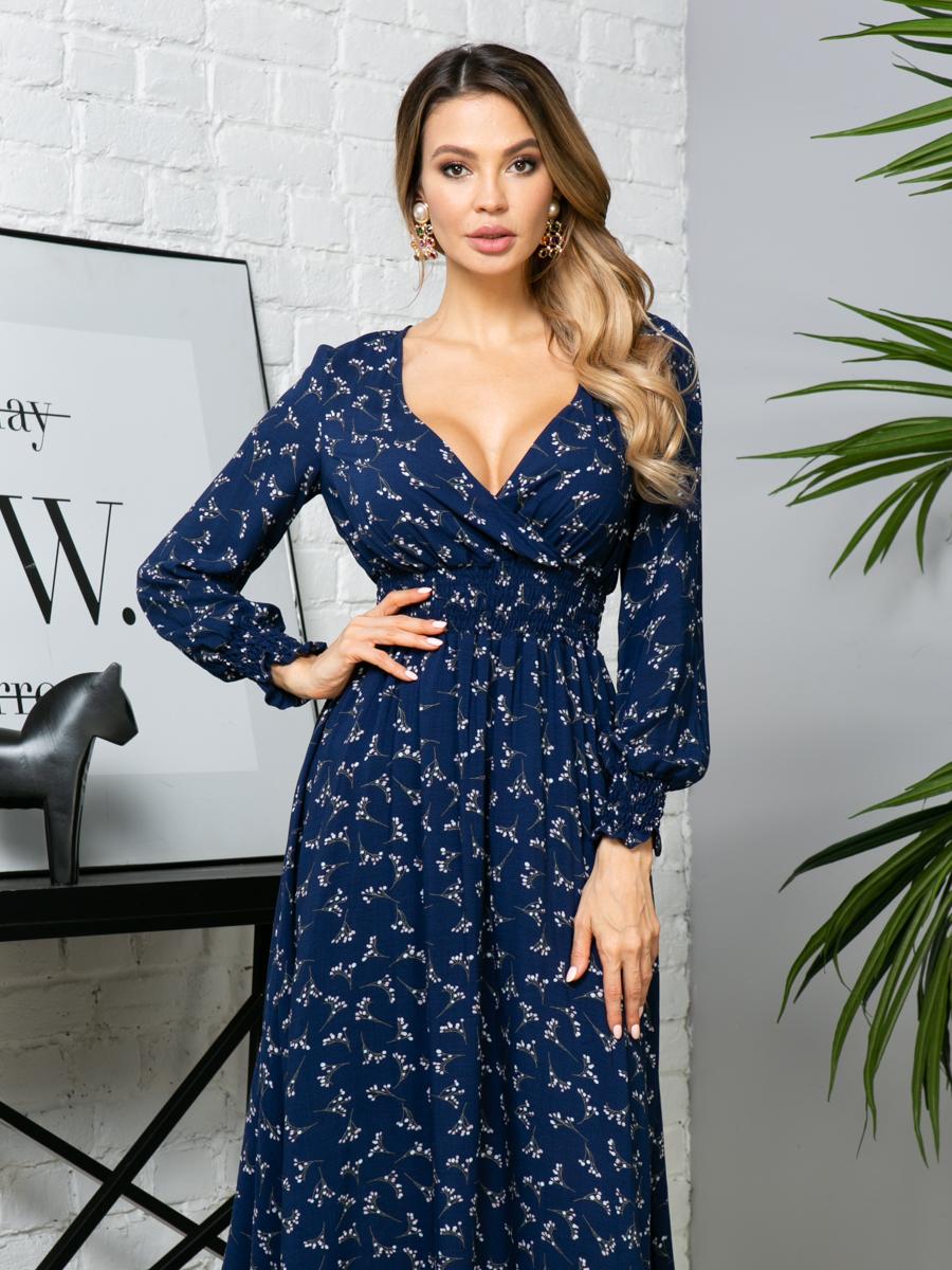Платье Z254 цвет: т.синий