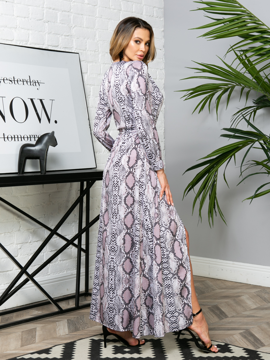 Платье V279 цвет: бежевый