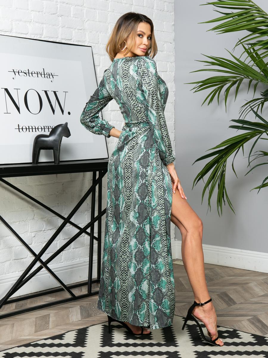 Платье V279 цвет: изумрудный