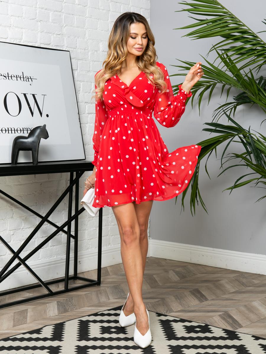 Платье V270 цвет: красный