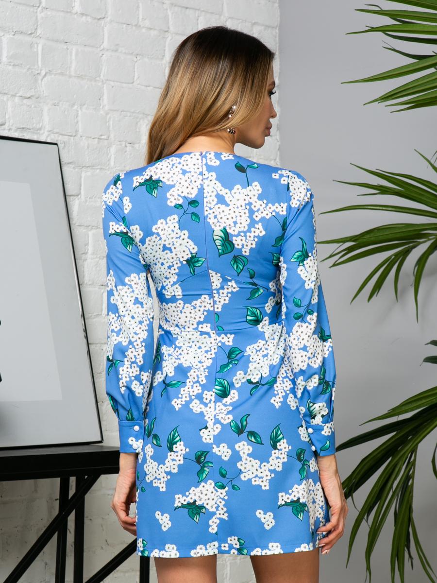 Платье V275 цвет: голубой
