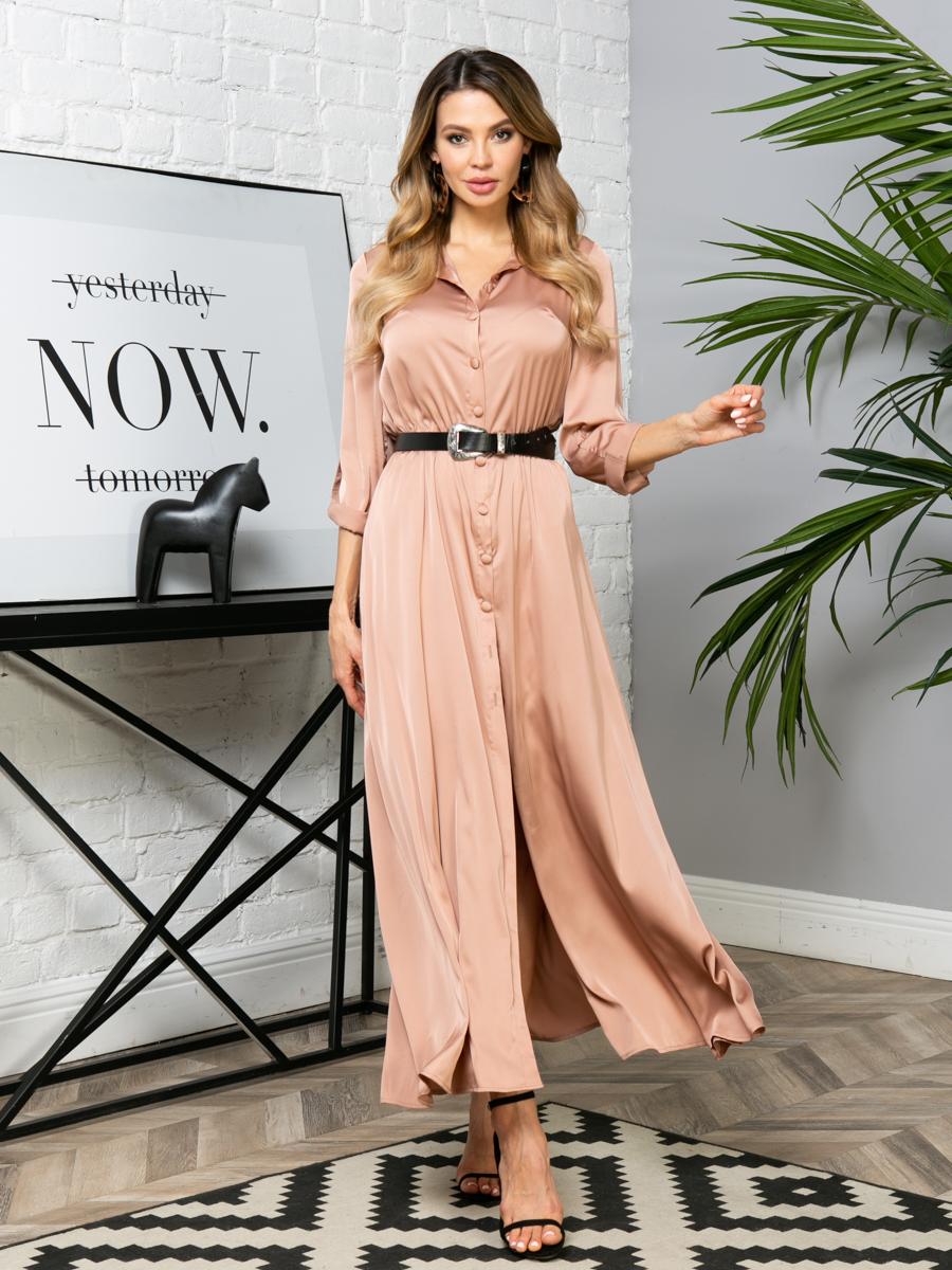 Платье V288 цвет: капучино
