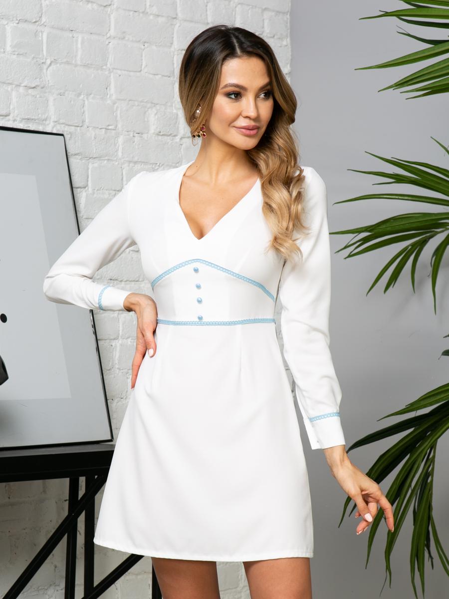 Платье V275 цвет: молочный