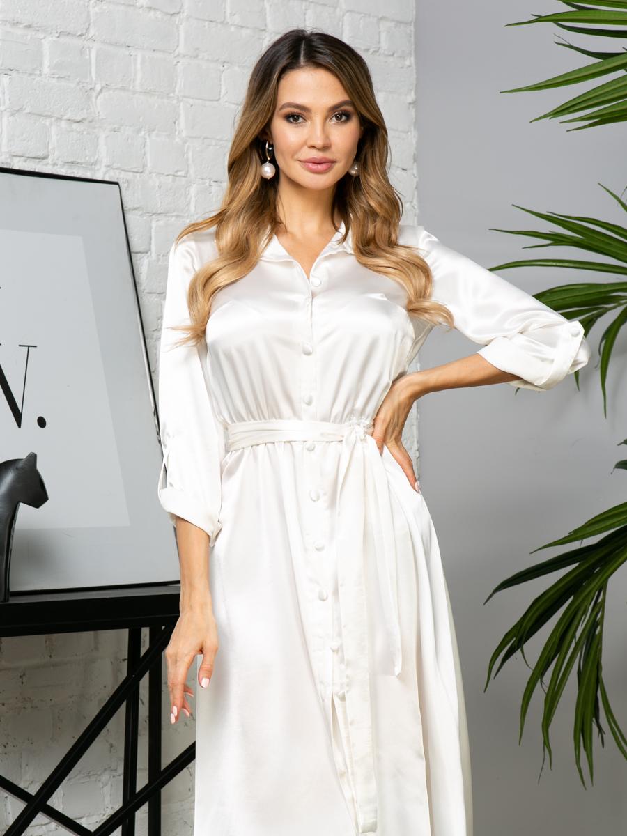 Платье V289 цвет: молочный