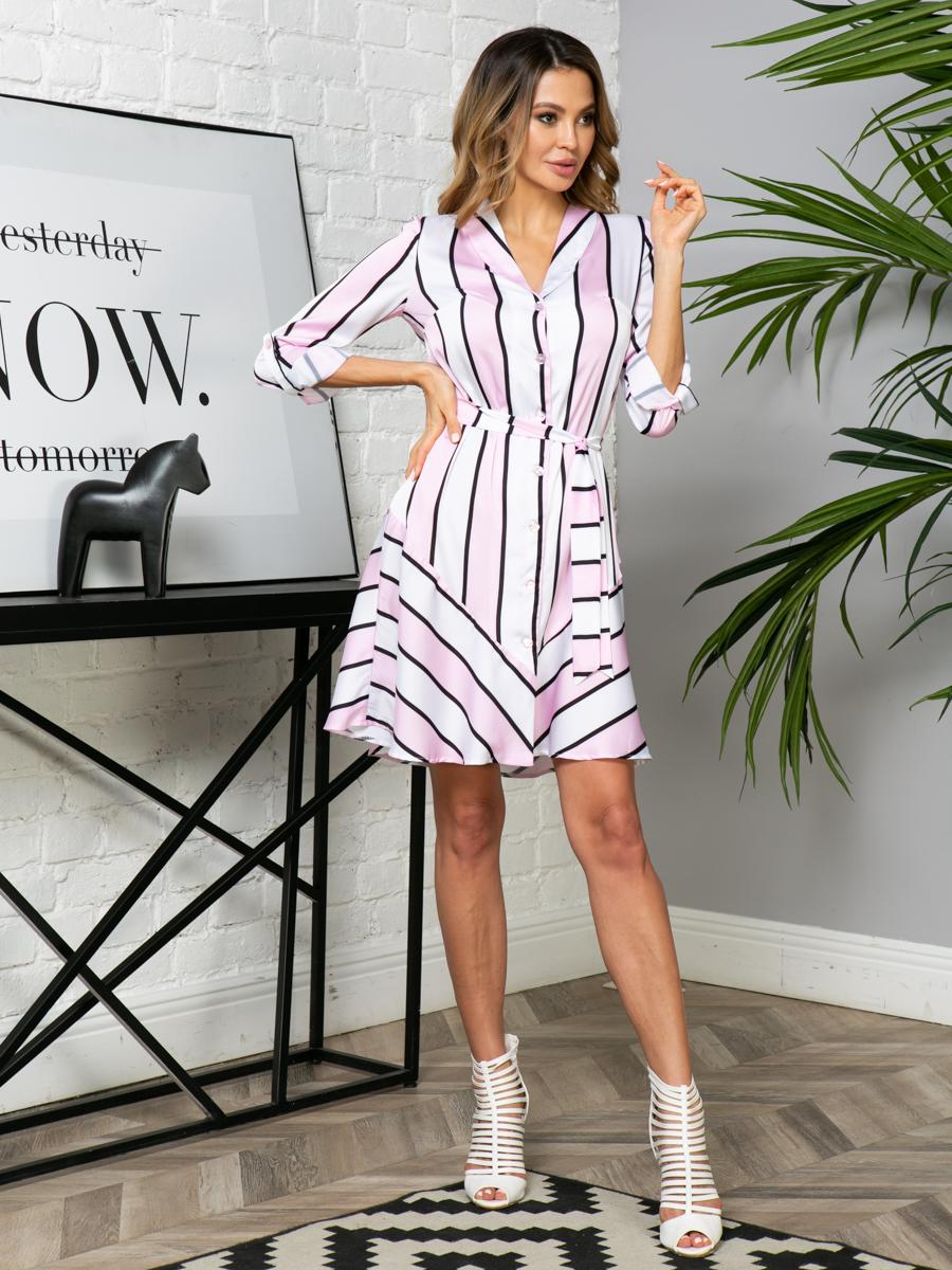 Платье V273 цвет: розовый