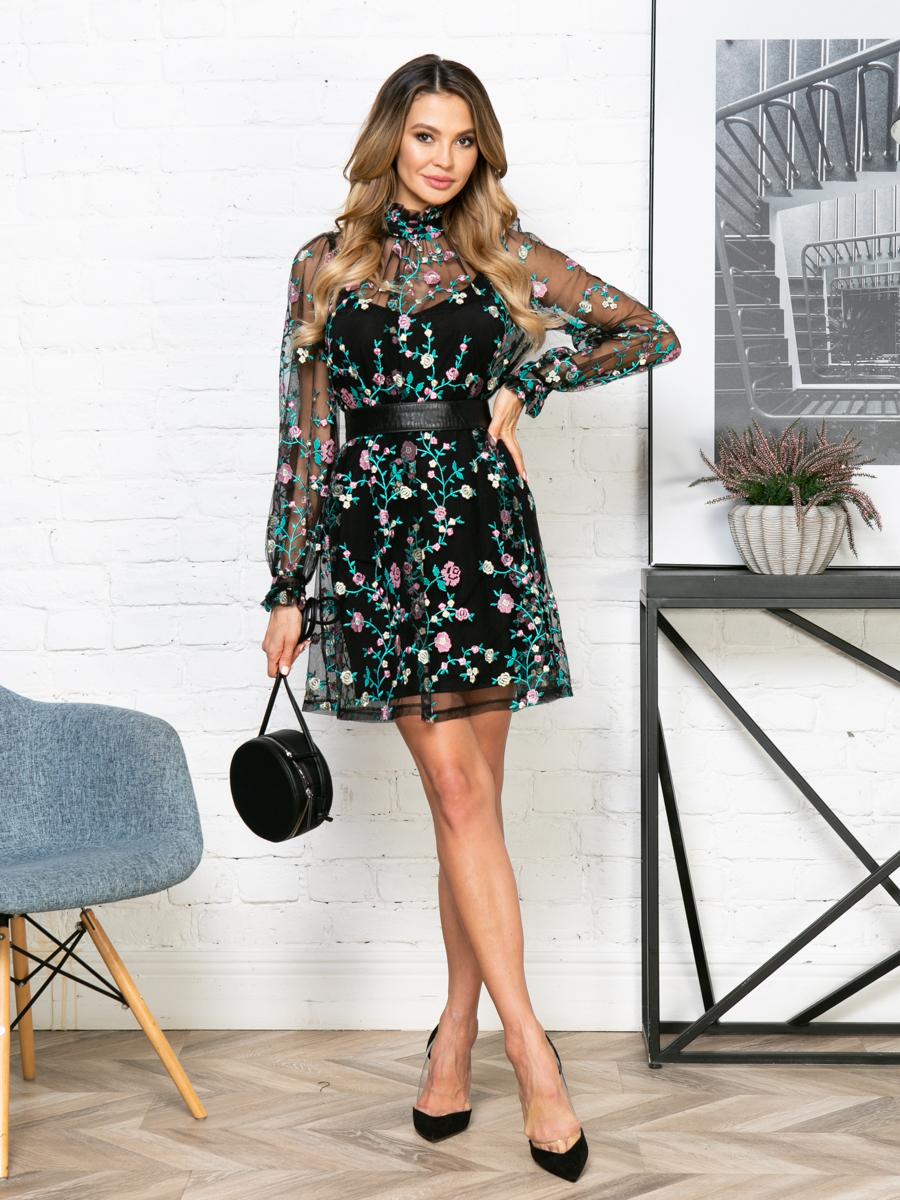 Платье V268 цвет: мультиколор