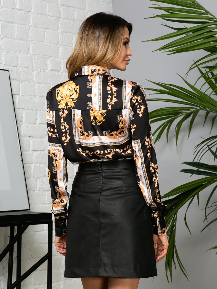 Блузка V275 цвет: черный
