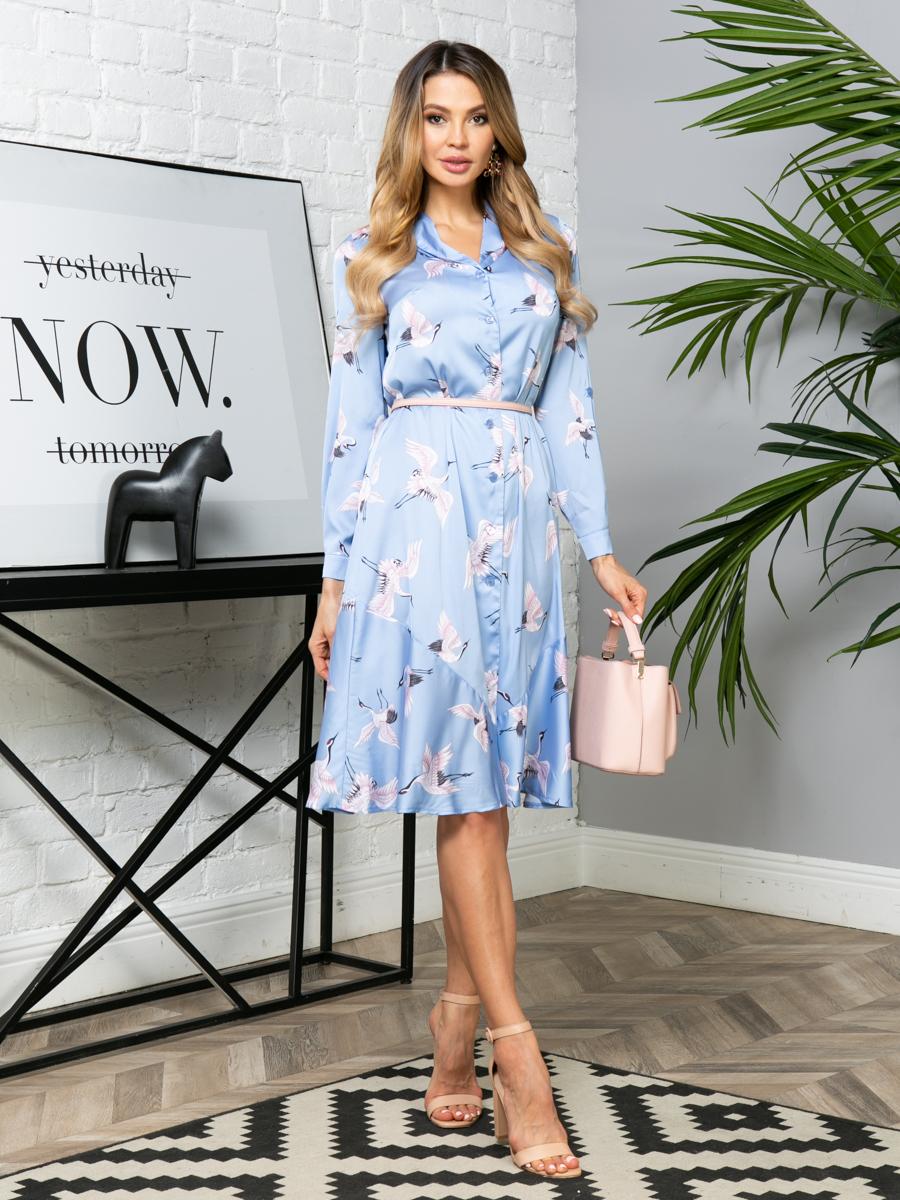 Платье V278 цвет: голубой