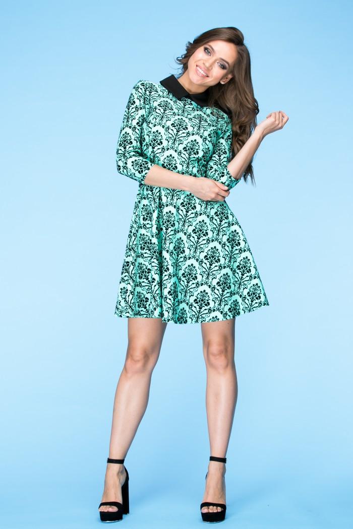066 Платье мятное