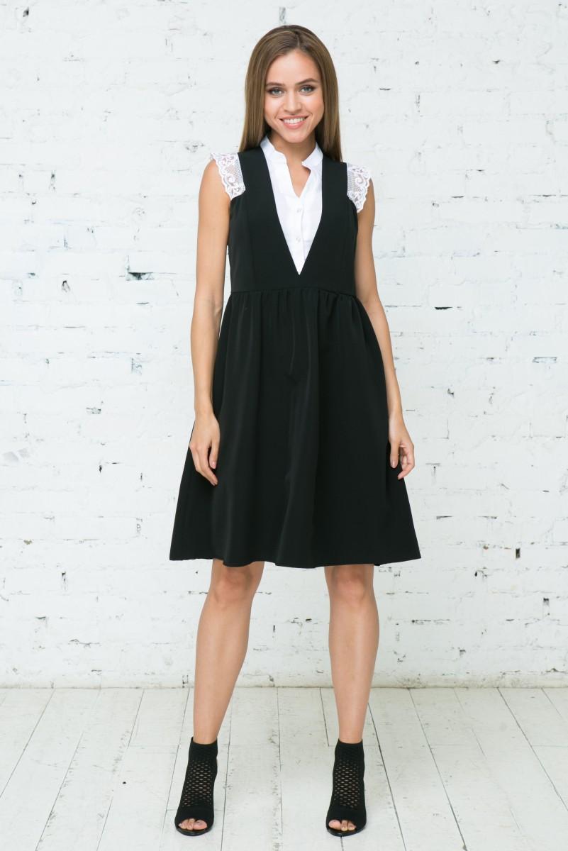 Платье V131 цвет черный