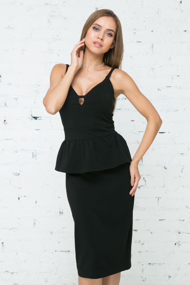 Платье V132 цвет черный