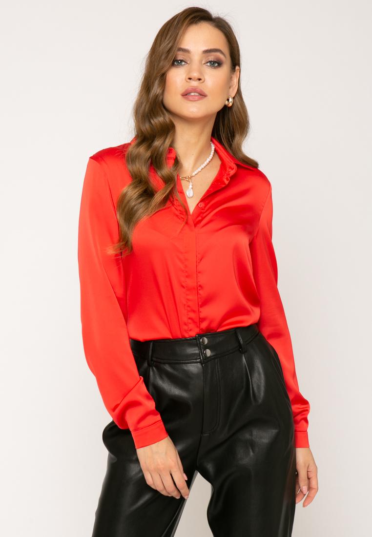 Блузка V362 цвет коралловый