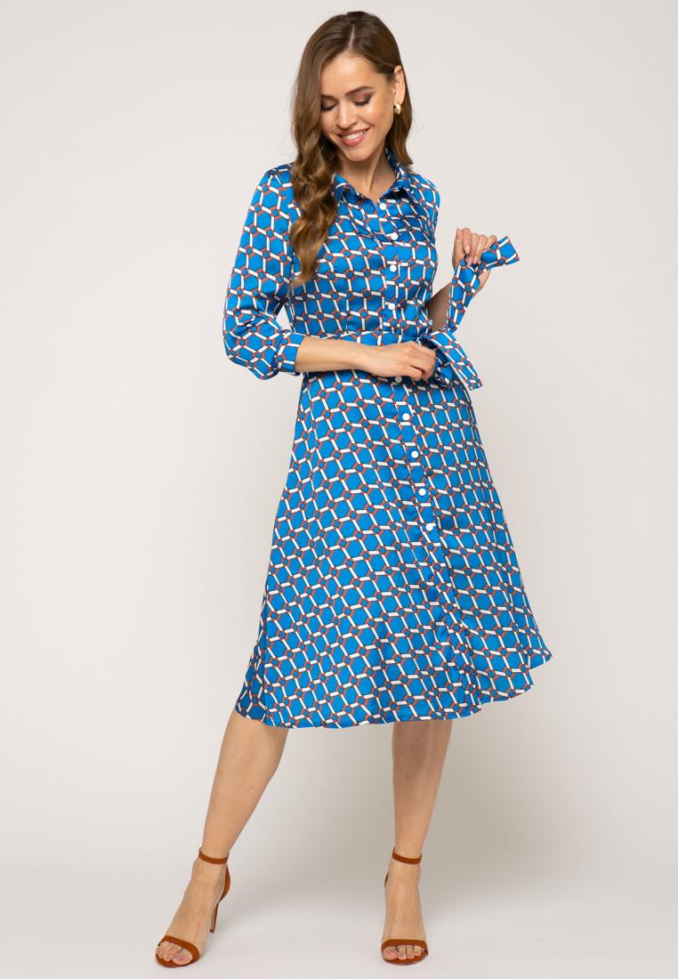 Платье V305 цвет синий