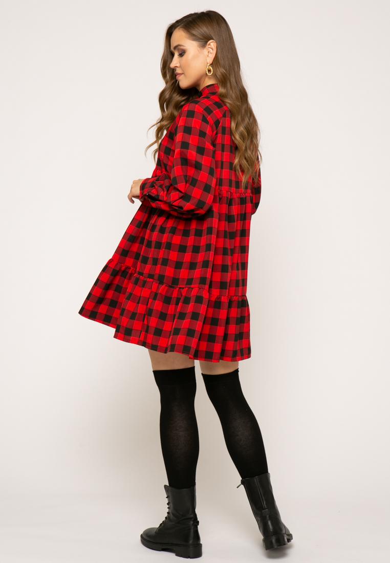 Платье V348 цвет красный