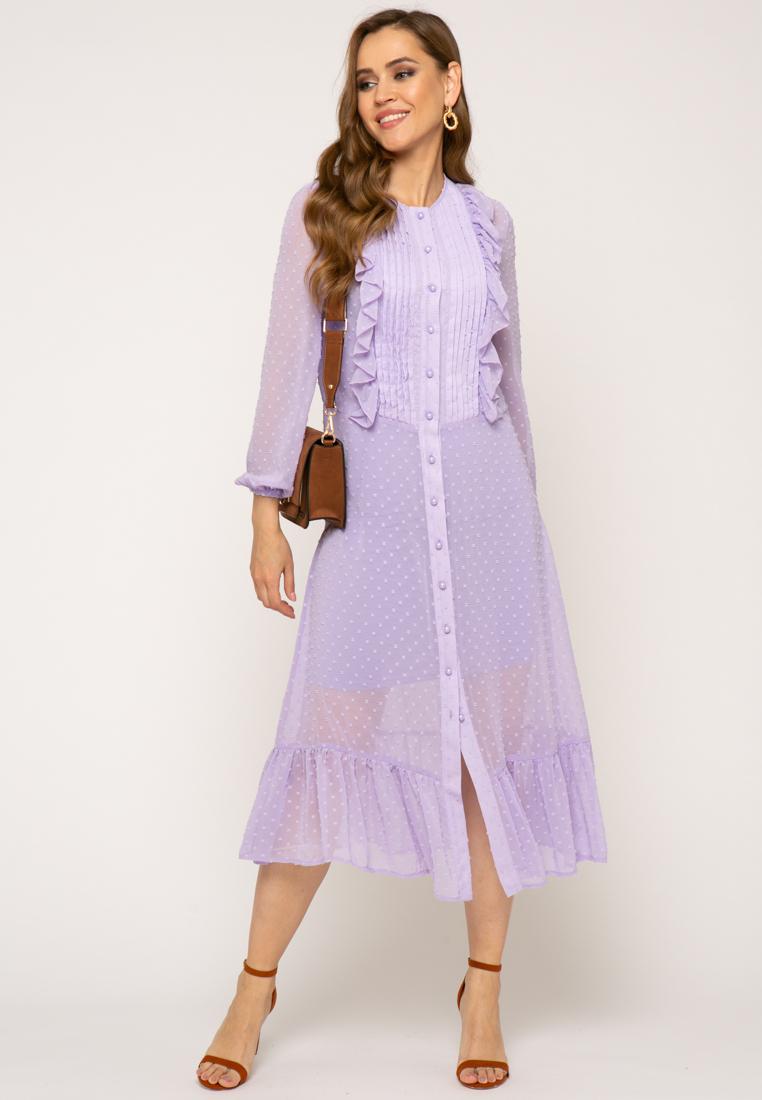 Платье V364 цвет лиловый