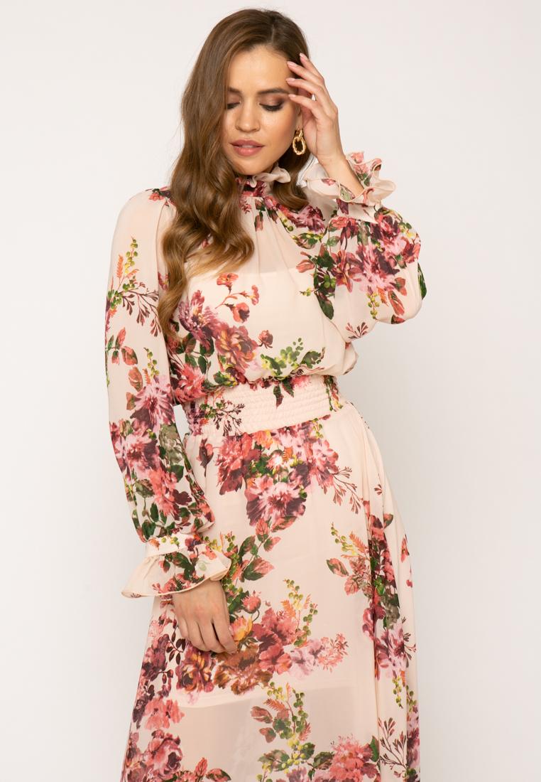 Платье V363 цвет розовый