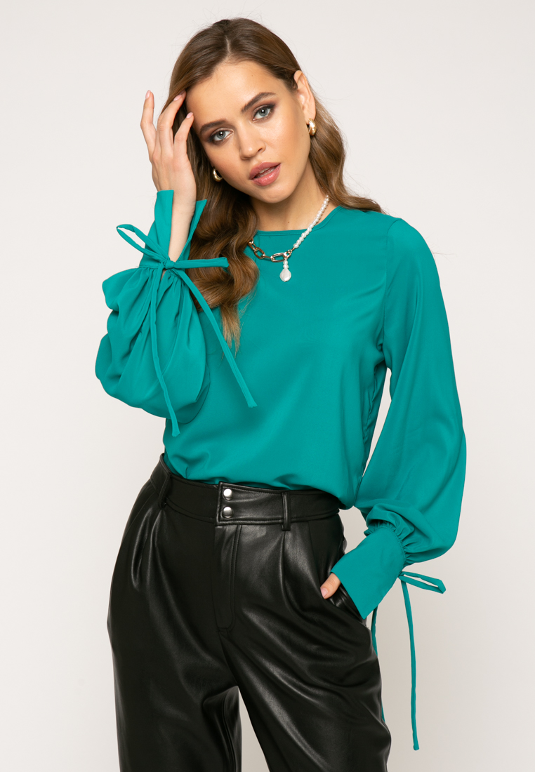 Блузка V376 цвет бирюзовый