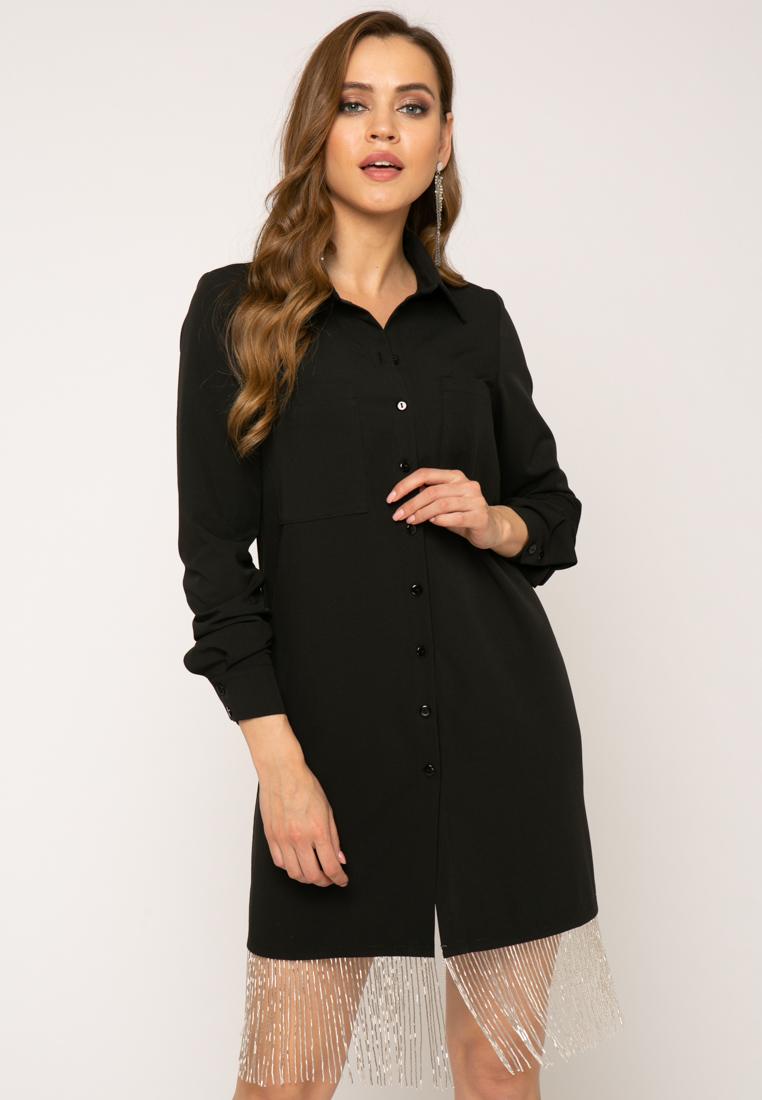 Платье V378 цвет черный