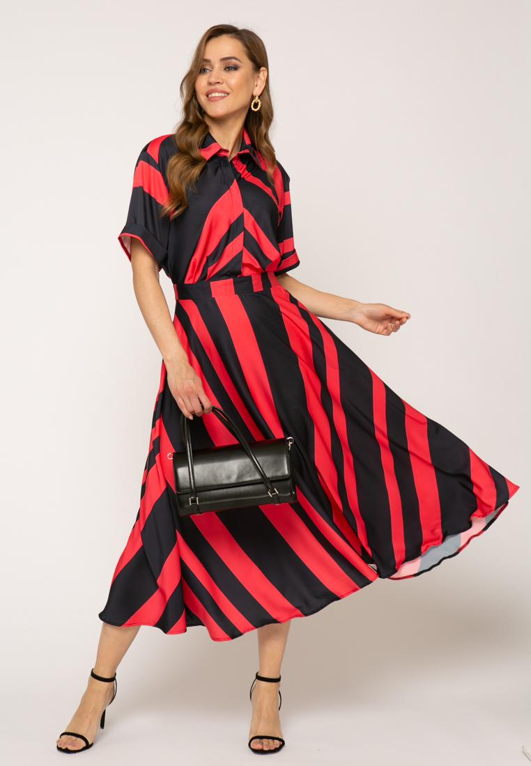 Платье V347 цвет фуксия