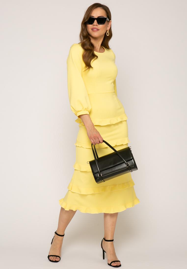 Платье V377 цвет желтый