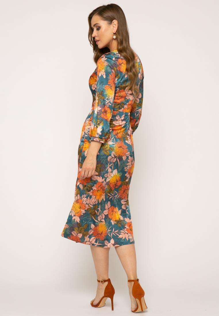 Платье V343 цвет бирюзовый