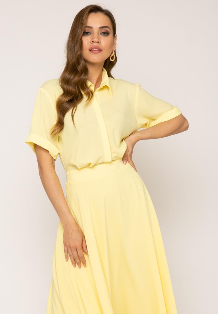 Платье V347 цвет желтый