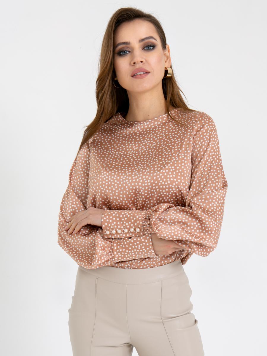 Блузка Z334 цвет: серо-бежевый