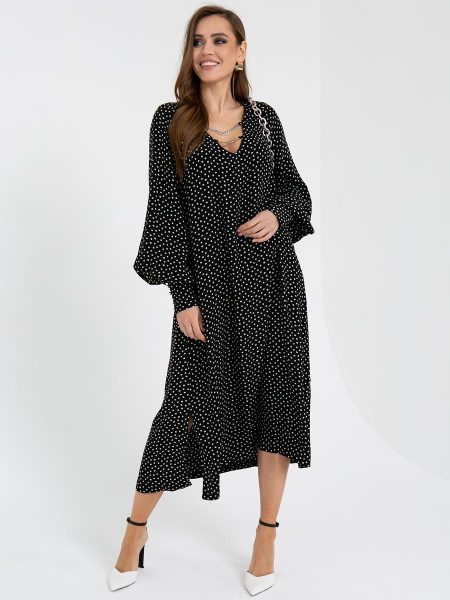 Платье V436 цвет: черно-белый