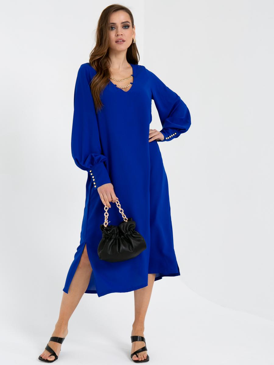 Платье V436 цвет: ярко-синий