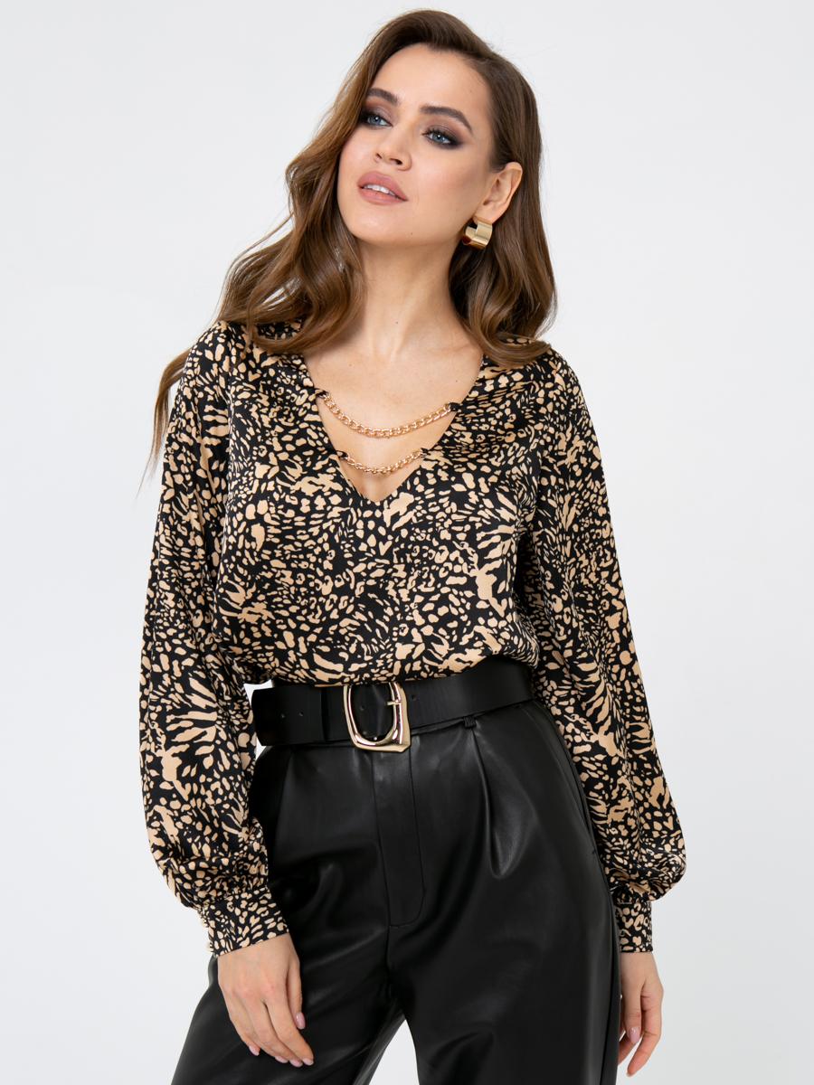 Блузка V435 цвет: коричневый