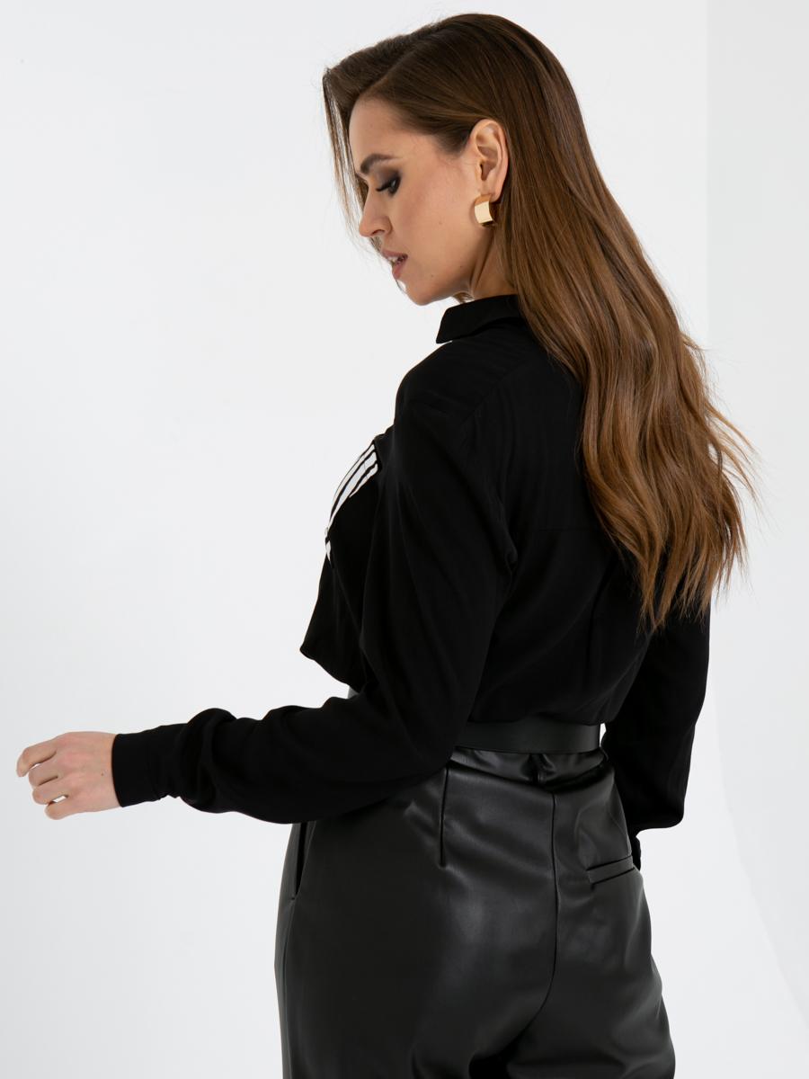 Блузка A402 цвет: черно-белый