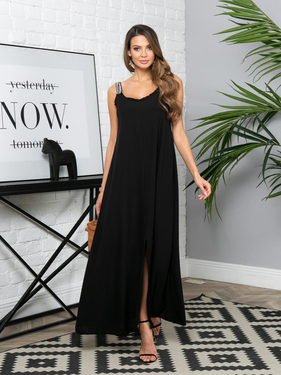 Платье L300 цвет черный